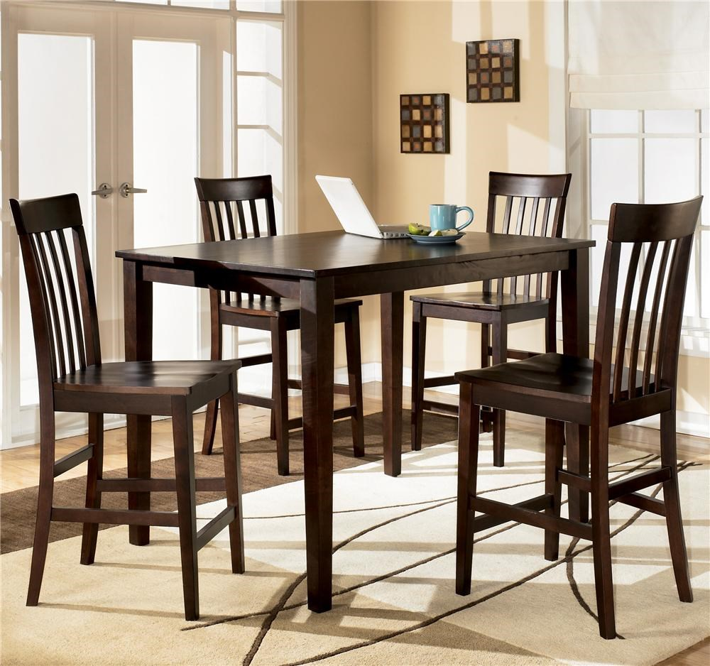 furniture piece rectangular counter height table bar stools ashley hayley discontinued carlyle