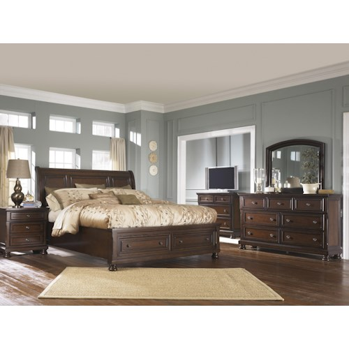 Ashley furniture porter queen bedroom group northeast for Bedroom groups