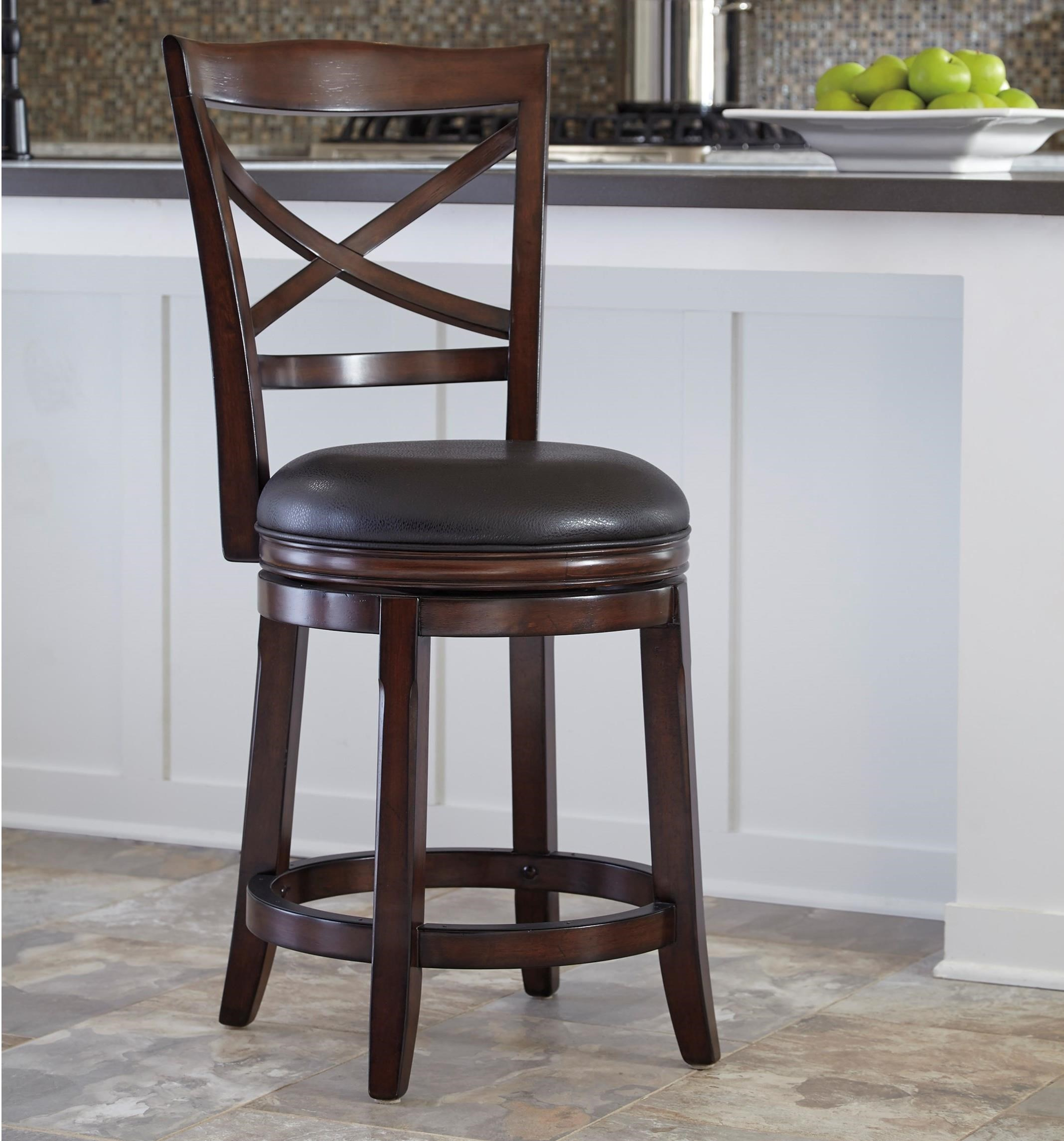 ashley furniture whitesburg bar stools porter signature counter height back upholstered swivel