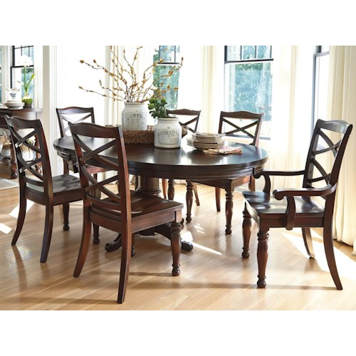 ashley furniture porter 7 piece round dining table set wayside furniture dining 7 or more. Black Bedroom Furniture Sets. Home Design Ideas