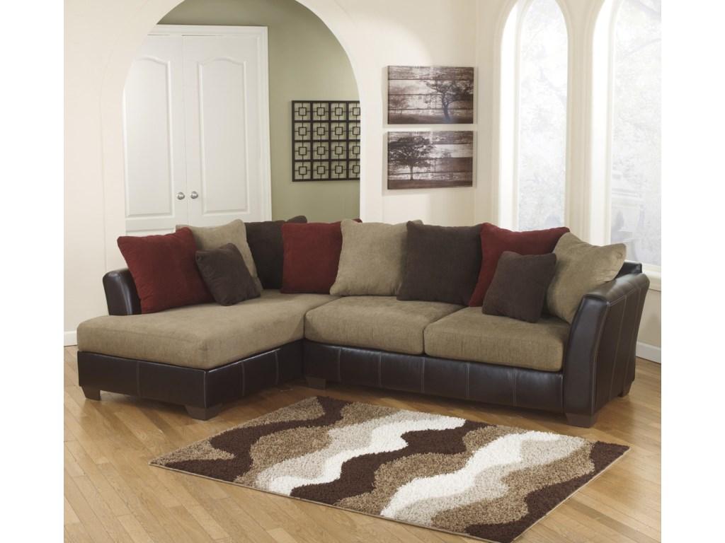 Ashley furniture sofas sectionals for Affordable furniture 3 piece sectional in jesse cocoa