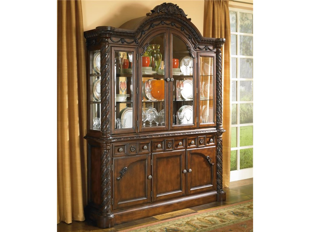 Lovely Millennium North Shore China Cabinet with Glass Doors | Royal  FQ43