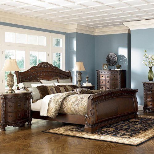 Millennium North Shore California King Sleigh Bed Wayside Furniture Sleigh Beds