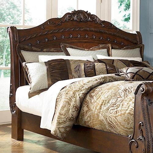 Millennium North Shore King Cal Sleigh Headboard A1 Furniture Mattres