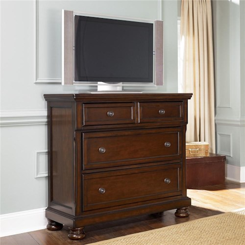 ashley furniture porter media chest with drop drawer wayside furniture media chests. Black Bedroom Furniture Sets. Home Design Ideas