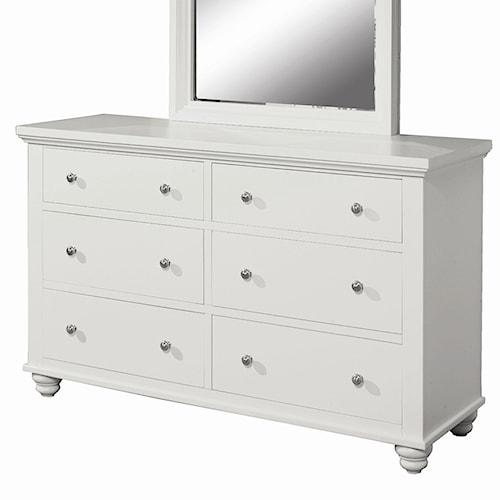 Aspenhome Cambridge Dresser With 6 Drawers Belfort Furniture Dresser