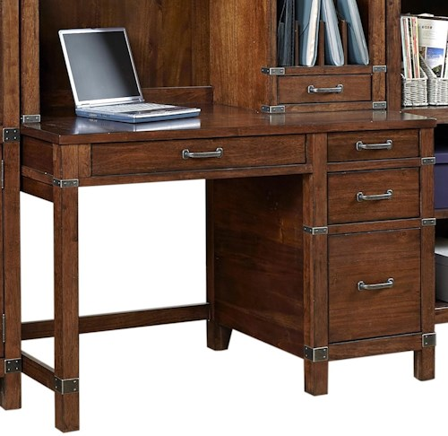 Aspenhome Canfield 50 Single Pedestal Desk With Cable