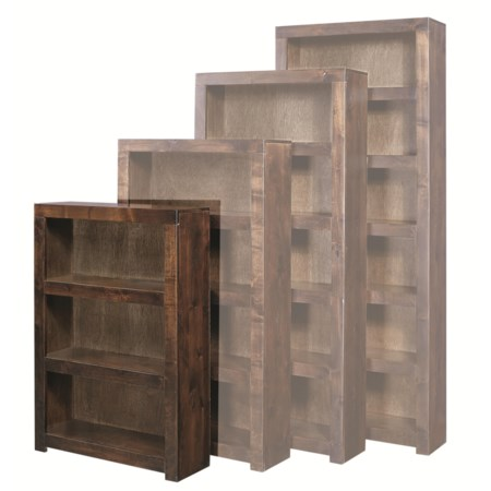 48 Inch Bookcase with 2 Shelves