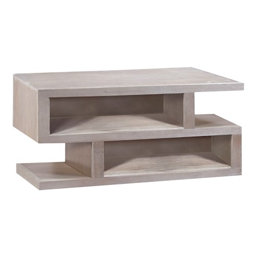 Aspenhome Contemporary Driftwood Contemporary Cocktail Table With Storage Boulevard Home