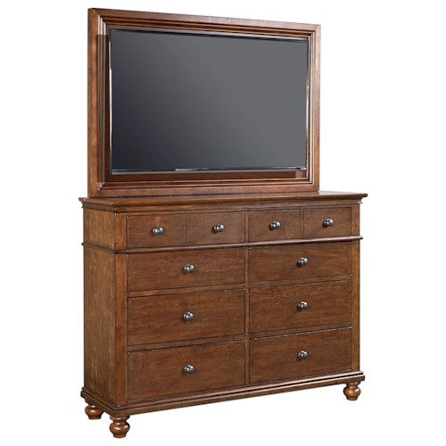 Aspenhome Oxford Transitional Media Chest With Tv Mount And Drop Front Drawer Belfort