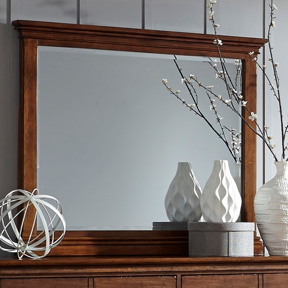 Aspenhome Oxford Transitional Landscape Mirror with Beveled Glass - Godby Home Furnishings ...