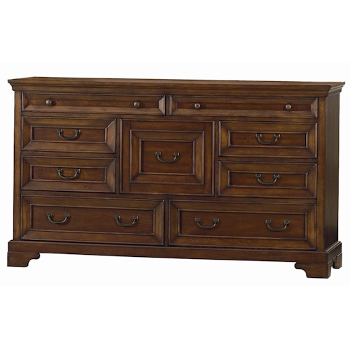 Aspenhome Richmond Nine Drawer Dresser Boulevard Home Furnishings Dresser