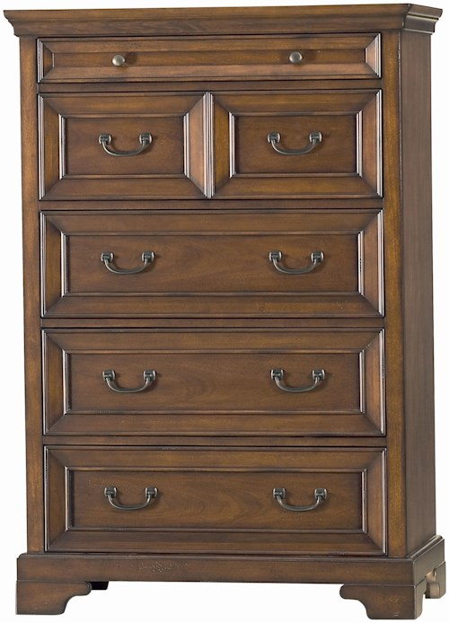 Aspenhome Richmond Five Drawer Chest Wayside Furniture Chest Of Drawers