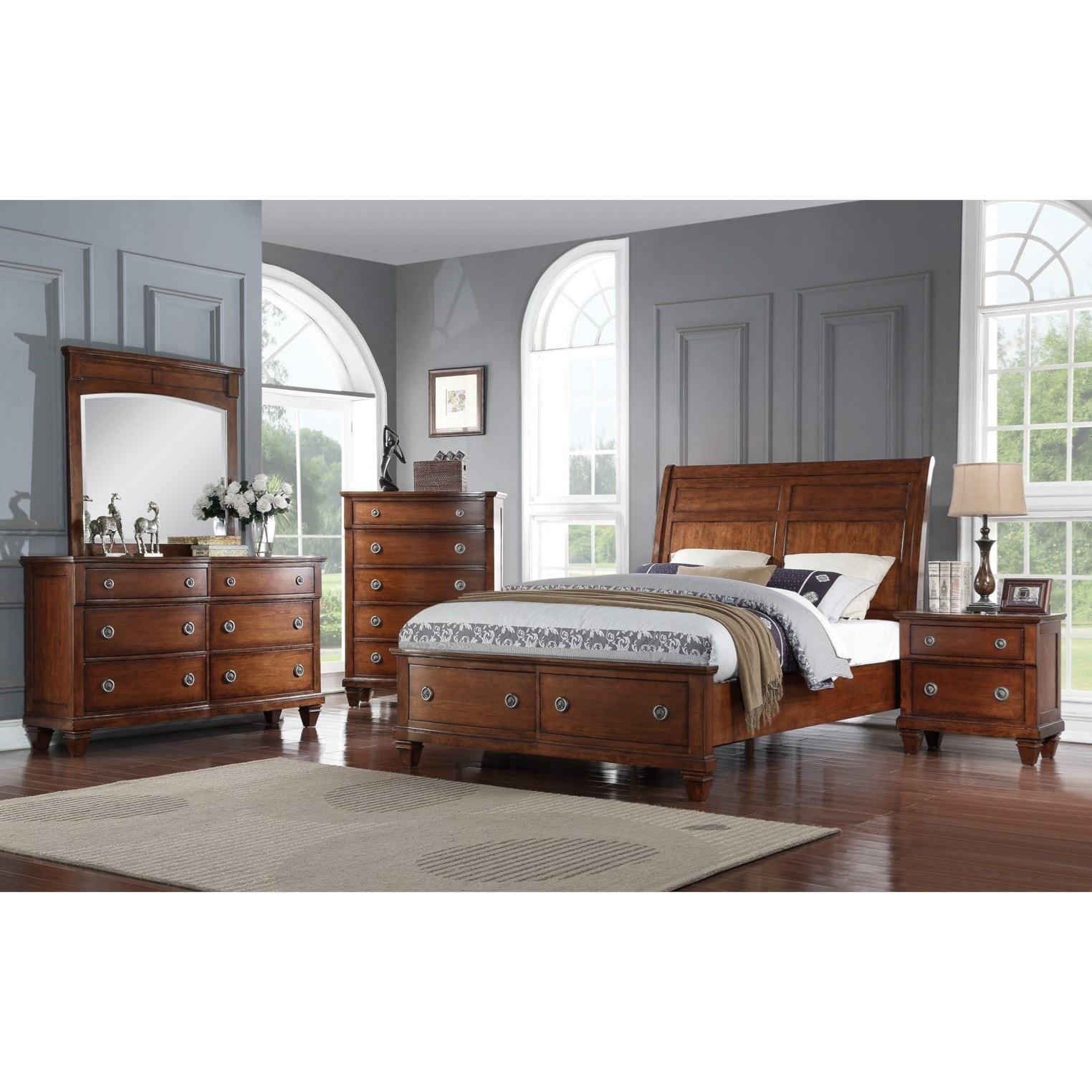 Avalon Furniture B068 Queen Bedroom Group Pilgrim