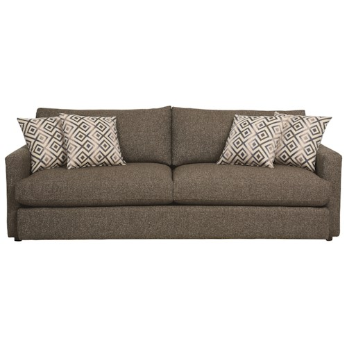 bassett allure contemporary sofa with track arms wayside