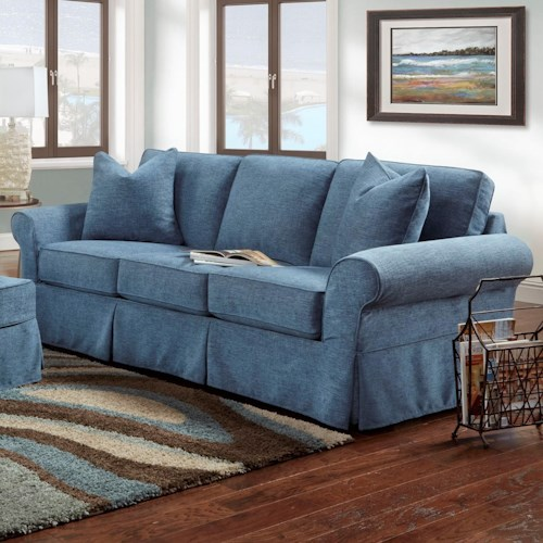 Denim Slipcover Sofa Bauhaus Ava Sofa With Slipcover