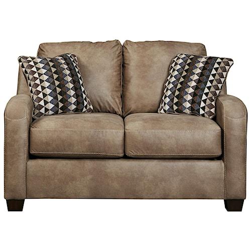 Benchcraft Alturo Contemporary Faux Leather Loveseat Walker 39 S Furniture Love Seat Spokane