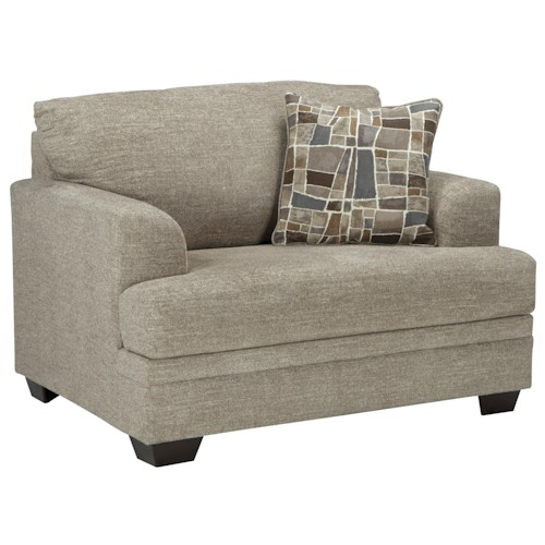 Jcpenney Furniture Outlet Ohio: Benchcraft Barrish Contemporary Chair And A Half With