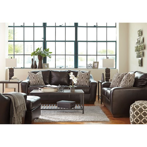 benchcraft coppell durablend stationary living room group