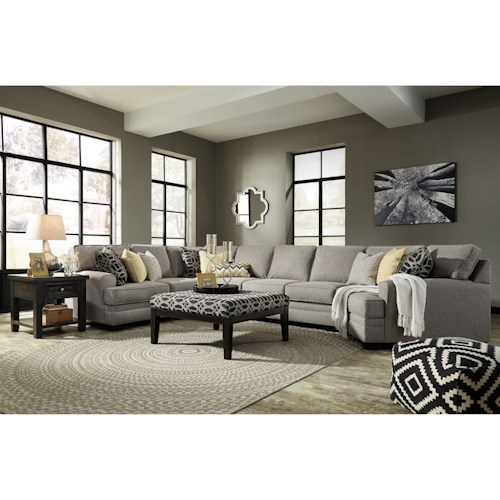 Benchcraft by ashley cresson stationary living room group for Living room furniture groups
