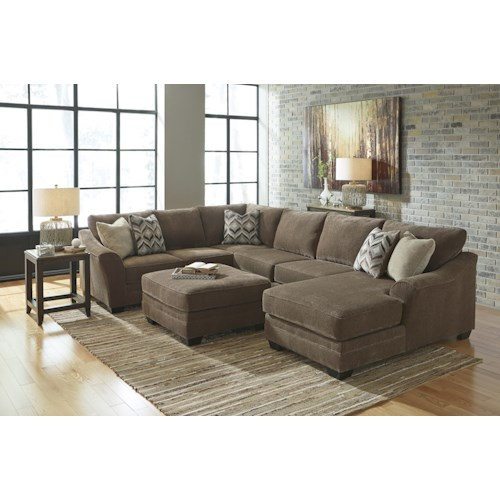 Benchcraft justyna stationary living room group for Living room furniture groups