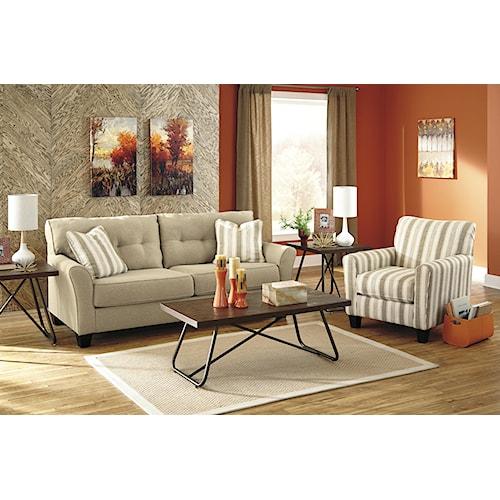 Benchcraft laryn stationary living room group pilgrim for Living room furniture groups