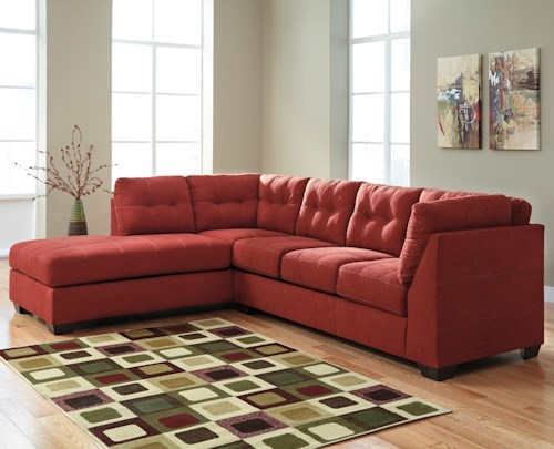 Benchcraft maier sienna 2 piece sectional with left for Sofa sectionnel en liquidation