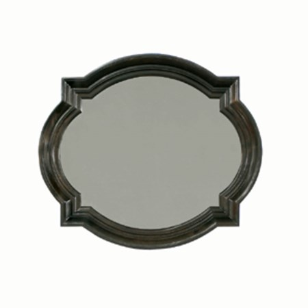 Wood Frame Oval Mirror