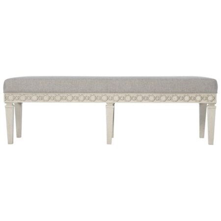 Transitional Customizable Accent Bench with Adjustable Glides