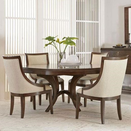 Bernhardt Beverly Glen 5 Piece Dining Set with Round Table