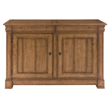 Dining Buffet with Storage and Door Paneling