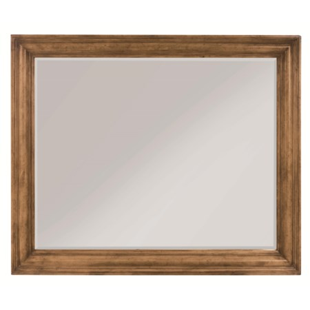 Rectangular Wall Mirror with Beveled Moulding