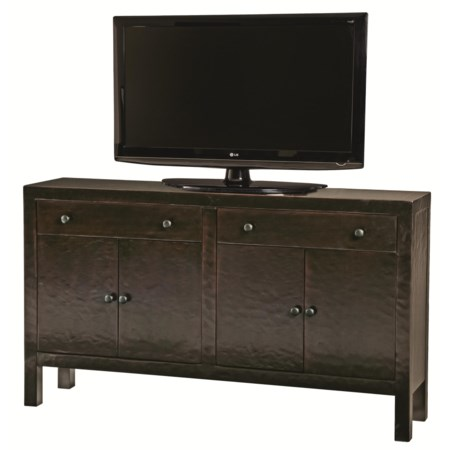 Transitional Styled Entertainment TV Console with Modern Furniture Design