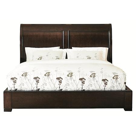 European Influenced Queen Size Platform Bed