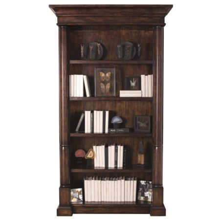 5-Shelf Bookcase with Wire Management