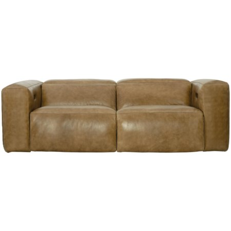 Contemporary Power Motion Sofa with Power Headrest and USB Port