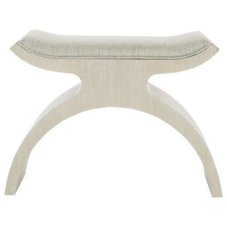 Customizable Transitional Bench with Upholstered Seat