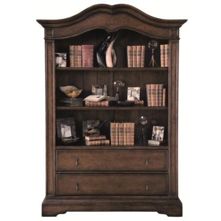 Display Cabinet with 2 Shelves and 2 Drawers