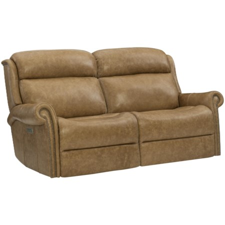 Traditional Power Reclining Loveseat with Power Tilt Headrests and USB Charging Ports