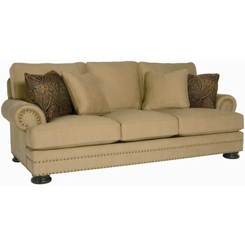Bernhardt foster stationary sofa with nailhead trim for Wayside furniture