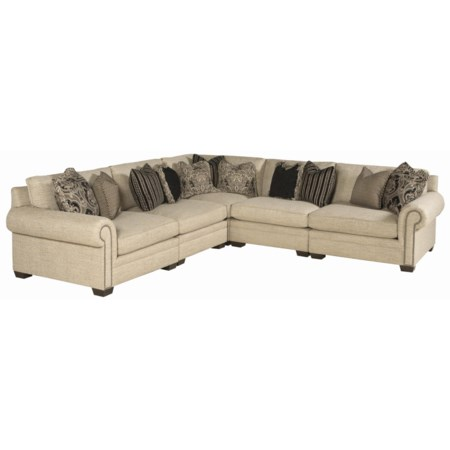 5 Piece Traditional Sectional Sofa