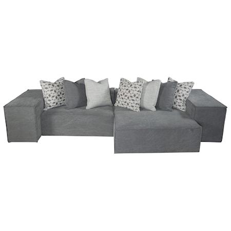 Six Piece Modern Modular Sectional Sofa