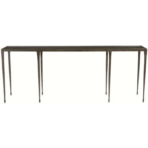 Bernhardt Interiors Halden Long Cast Iron Console Table