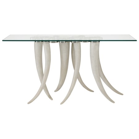 Console Table with Tusk Legs