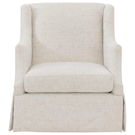 Swivel Chair with Wing Back and Skirt Base
