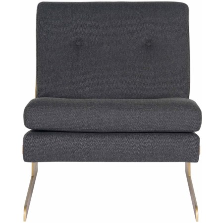 Lance Chair with Metal Legs and Contemporary Style