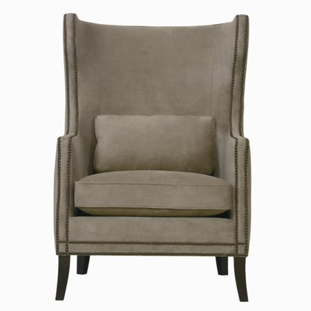 Kingston Contemporary Wing Chair