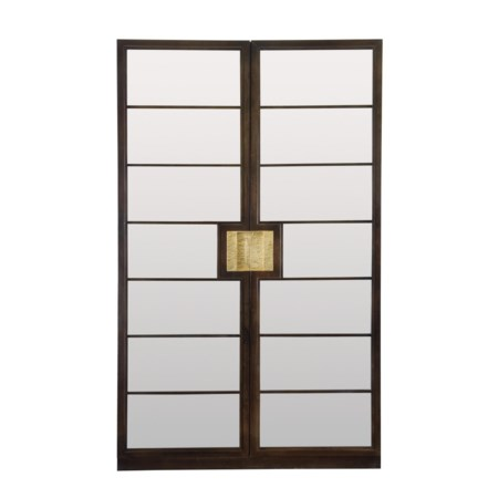 Curio Cabinet with Inset Mirror Glass