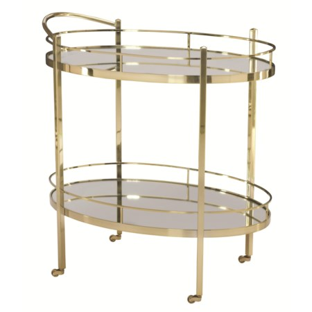 Serving Cart with Mirrored Glass
