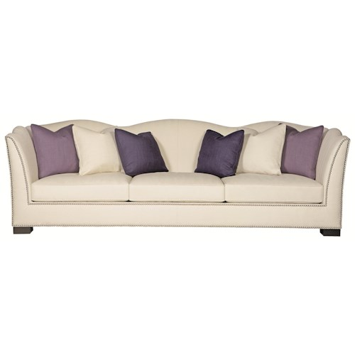 Bernhardt kirkland camel back sofa with modern elegant for Sofa table kirklands